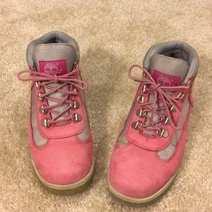 Timberland Pink Girls Boots Size 4 1/2